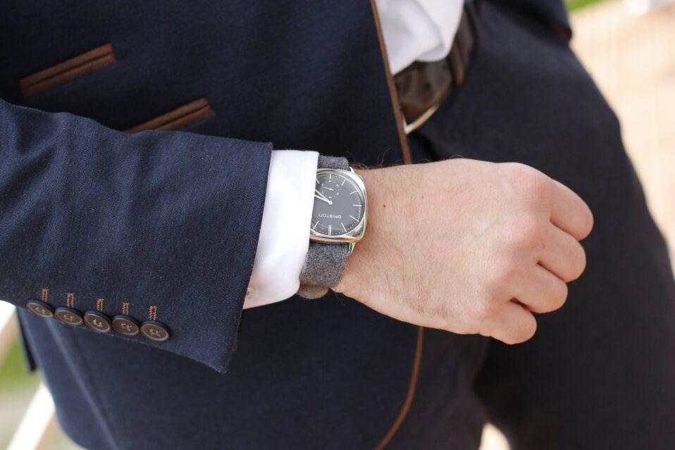 elegancki pasek skórzany do spodni garniturowych
